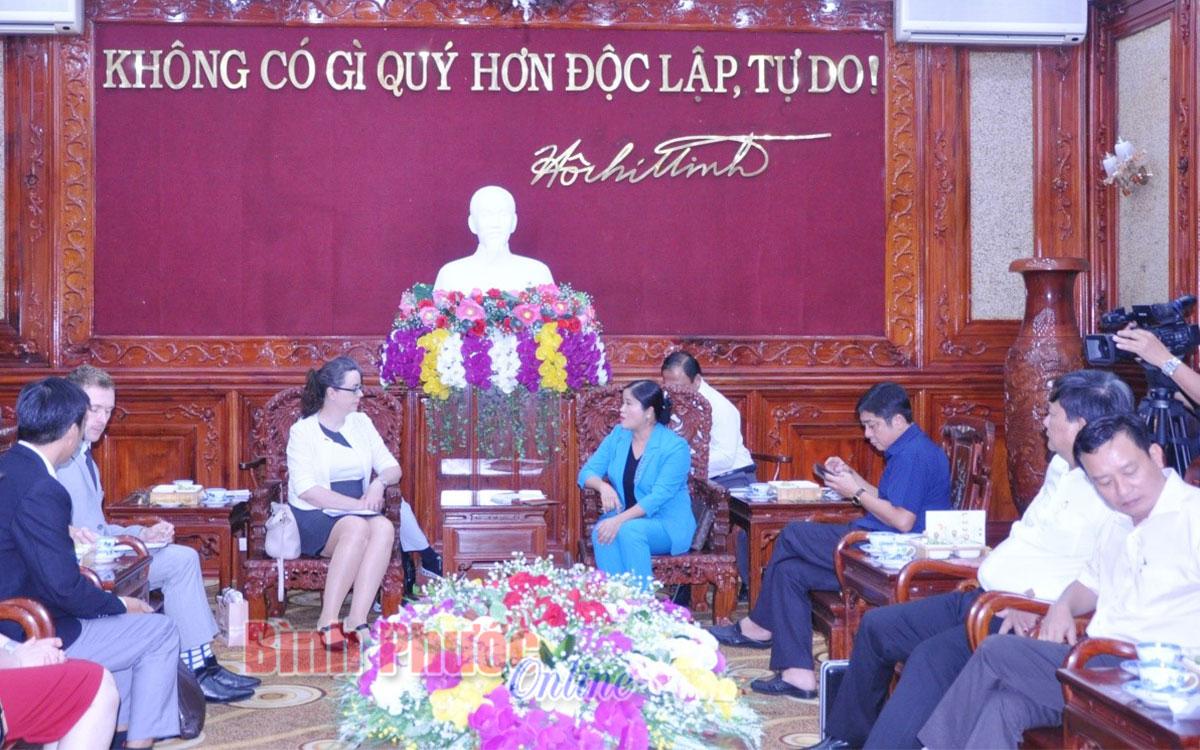Chủ tịch UBND tỉnh Trần Tuệ Hiền tiếp Tổng Lãnh sự Úc tại thành phố Hồ Chí Minh