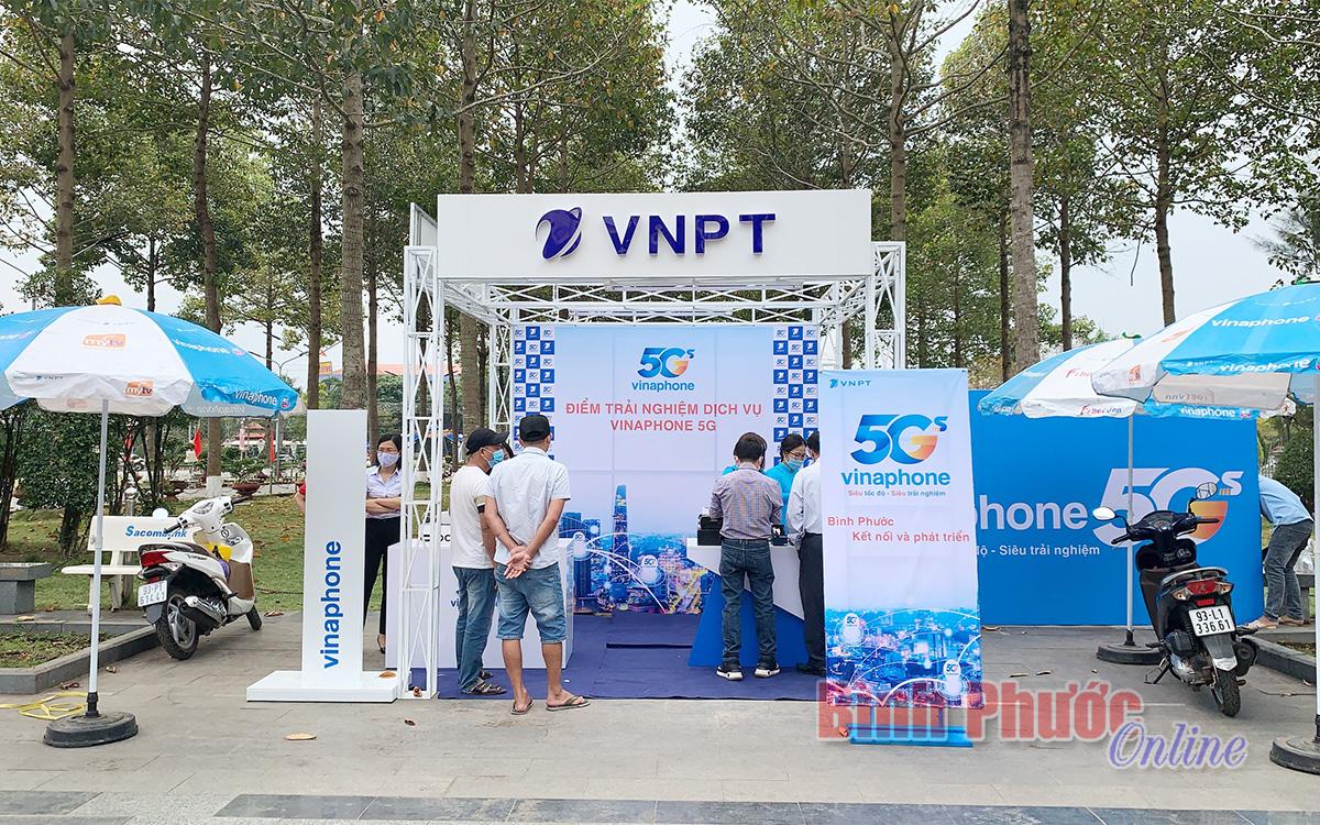 VNPT Bình Phước phát thử nghiệm mạng 5G tại thành phố Đồng Xoài