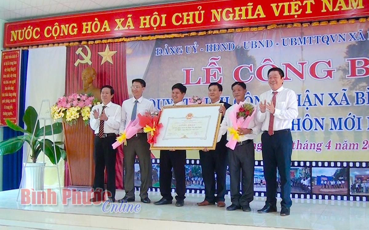 Bình Minh đạt chuẩn xã nông thôn mới