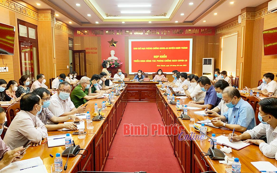 Ban chỉ đạo phòng, chống Covid-19 tỉnh dự họp khẩn tại Chơn Thành về ca F0 đầu tiên ở Bình Phước