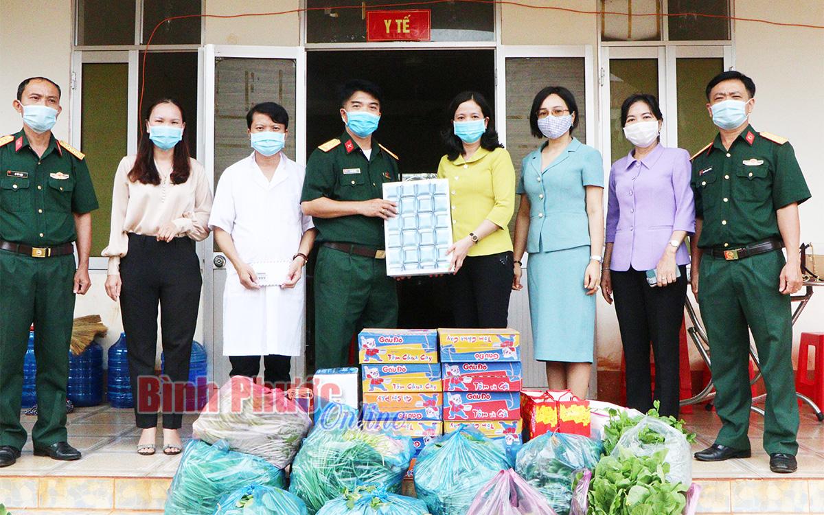 Hội liên hiệp Phụ nữ tỉnh Bình Phước tiếp sức cho tuyến đầu chống dịch