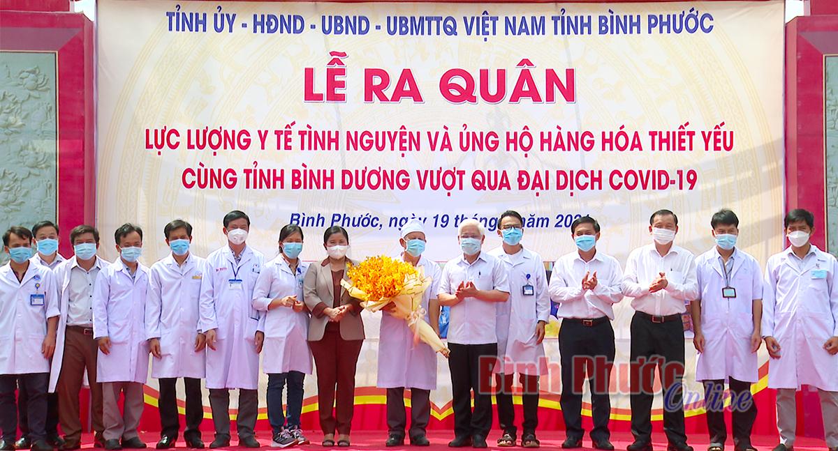 330 bác sĩ, nhân viên y tế lên đường hỗ trợ tỉnh Bình Dương